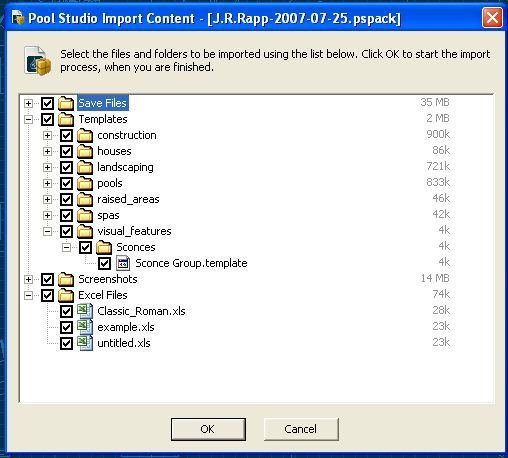 Pool Studio Import Content Package File