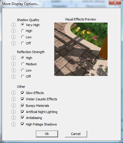 VizTerra Configuration More Display Options