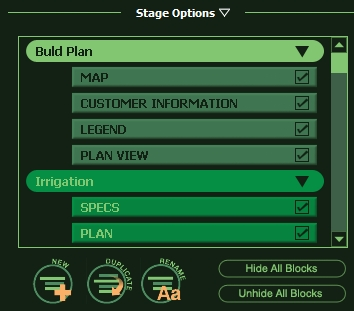 VizTerra Construction Stage Options