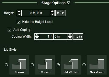 VizTerra Hardscapes Stage Options