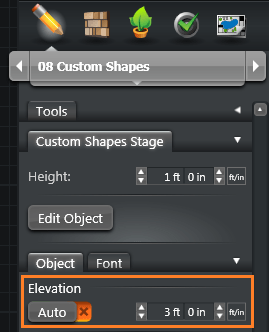 Custom Shapes Elevation