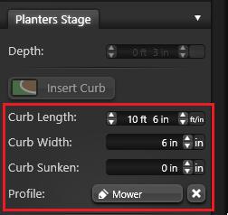 Planter Curb Options