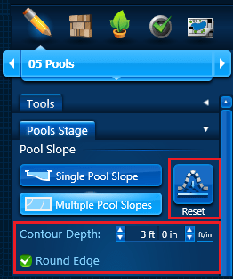 Pool Slope - Multiple Options