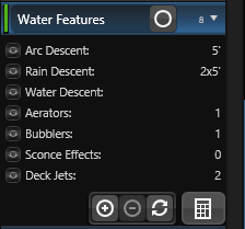 Calculation Details Water Features