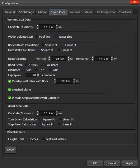 Configuration Smart Data