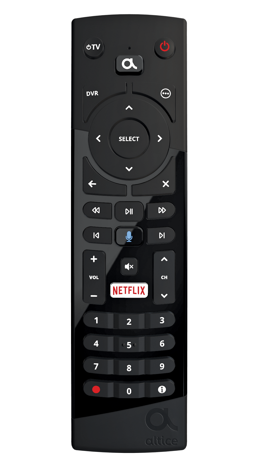 hight resolution of altice one remote