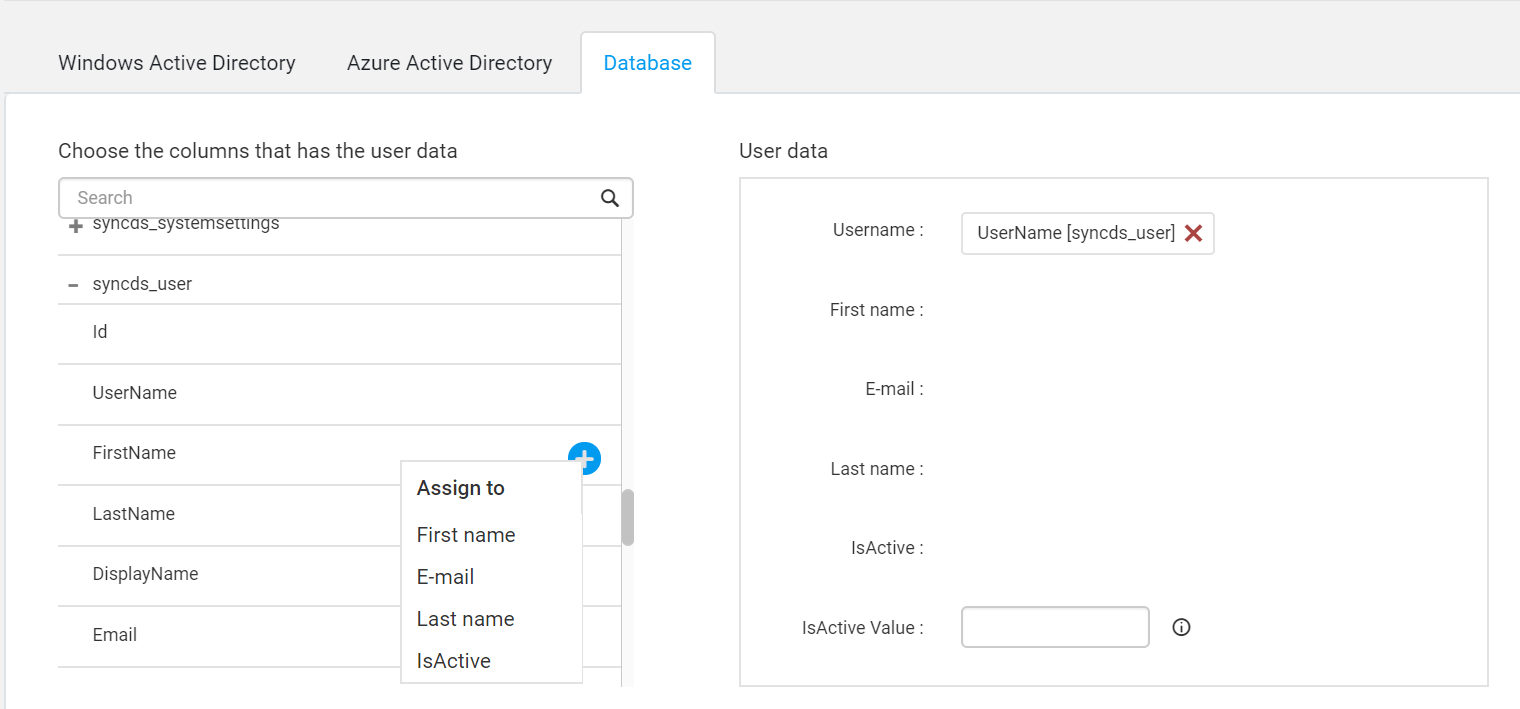 Configure Database settings for the Syncfusion Dashboard