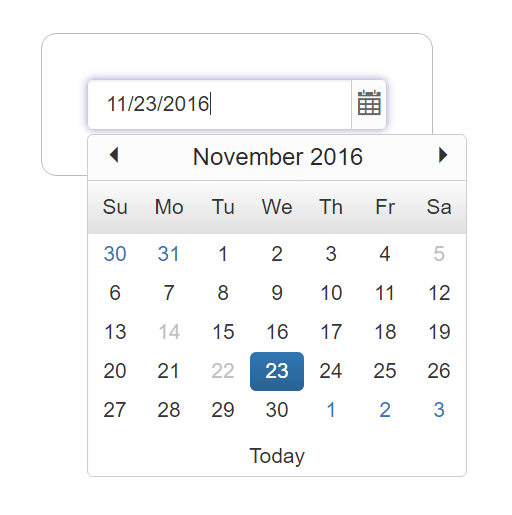 Getting Started with DatePicker   DatePicker   PHP   Syncfusion