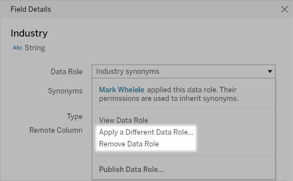 新增資料問答 (Ask Data) 的同義字 - Tableau
