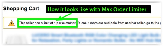 Limit Max Order quantity - Amazon Coupons