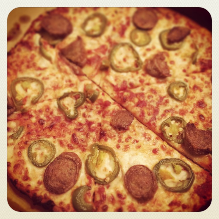 Gluten Free Sliced Sausage & Jalapeno Pizza from Domino's (Phoneography and Non-SLR Digital Devices Photo Challenge)