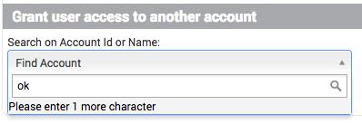 Accorder l'accès à un utilisateur.