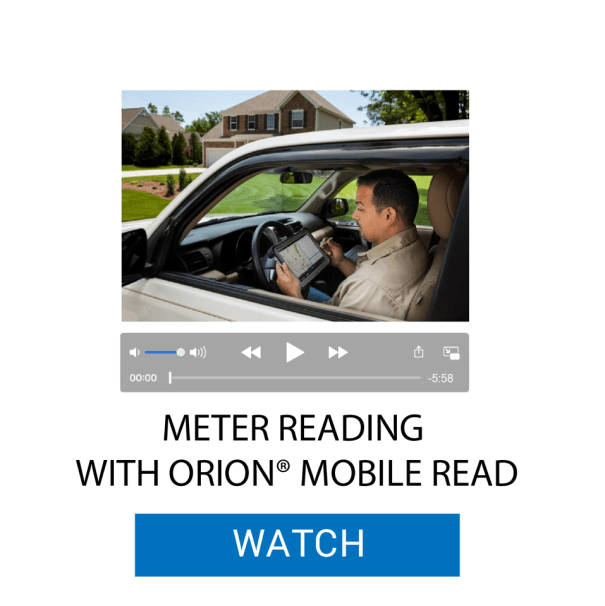 Meter Reading with ORION® Mobile Read