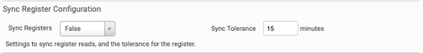Sync Registers Configuration