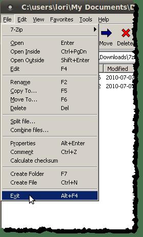 Closing 7-Zip