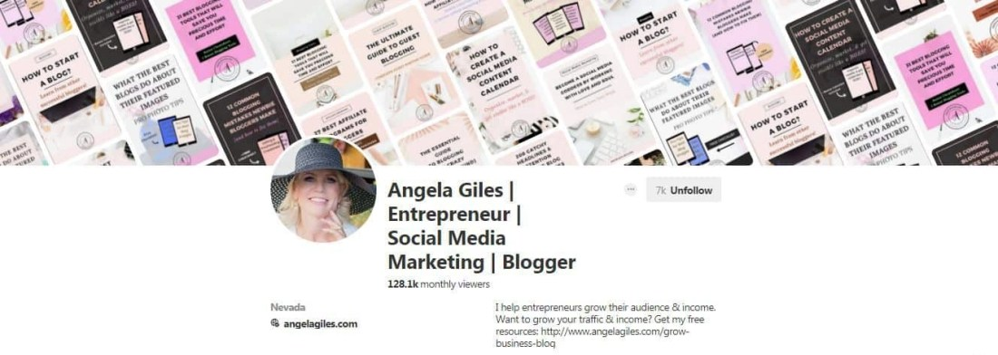 Pinterest group boards for Angela Giles.