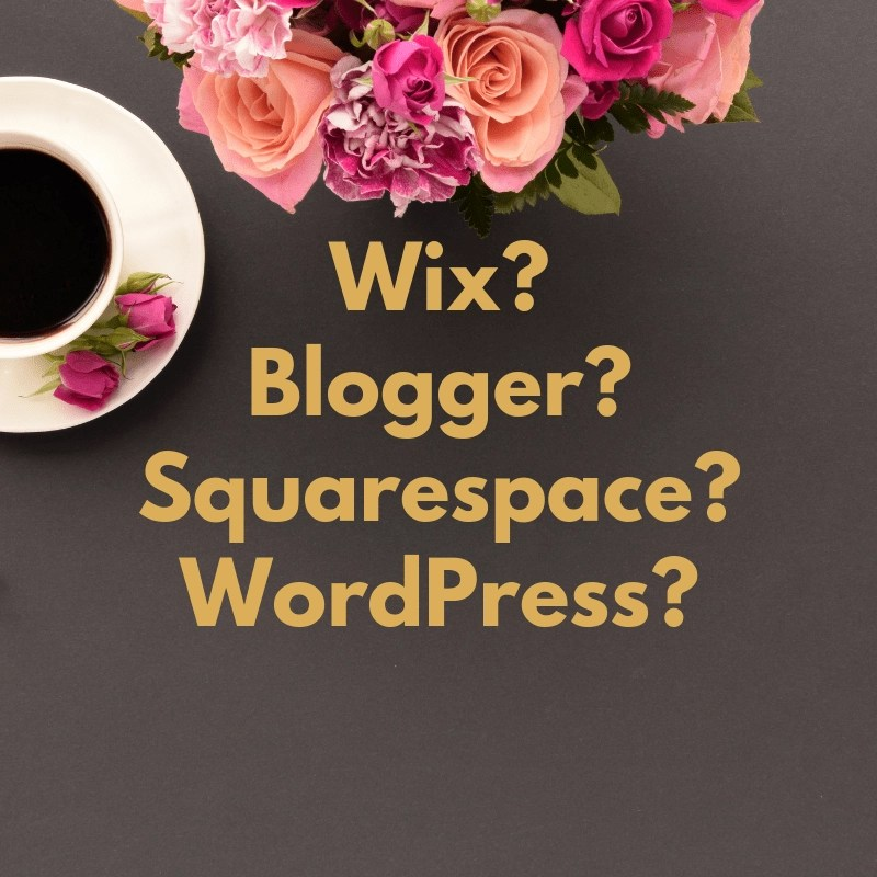 Choosing blogging platforms is TOUGH. Do you go with WordPress, Wix, Squarespace, or Blogger? I'll help you make the right decision.