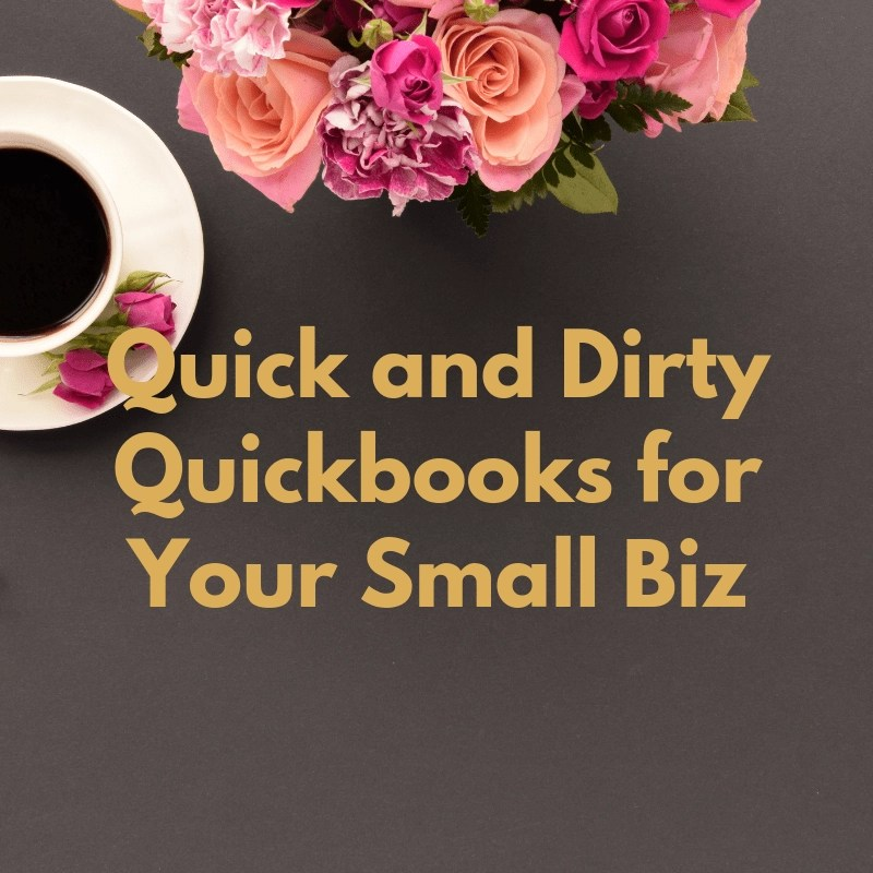 Need help for your small business? Quick and easy QuickBooks to help you manage your business finances.