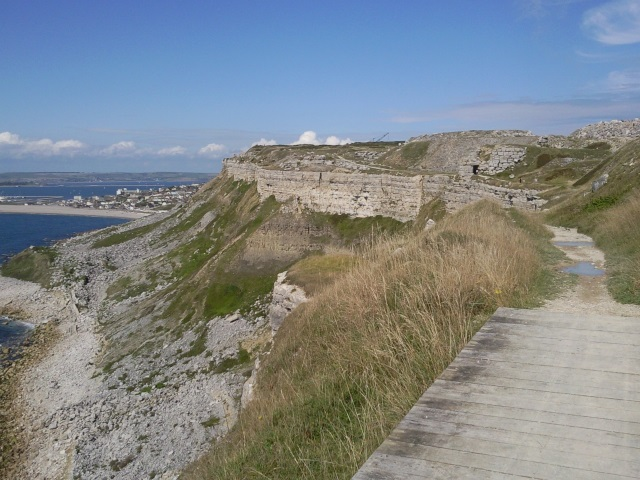A glimpse of Chiswell from the cliff top further south