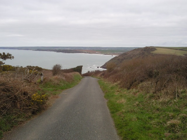 Road approaching Millook