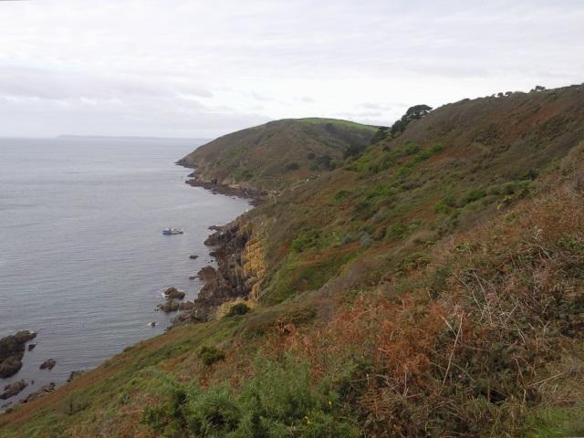 Coast path approaching Polperro