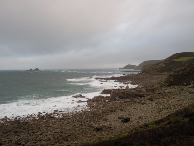 The Brisons and a distant Cape Cornwall