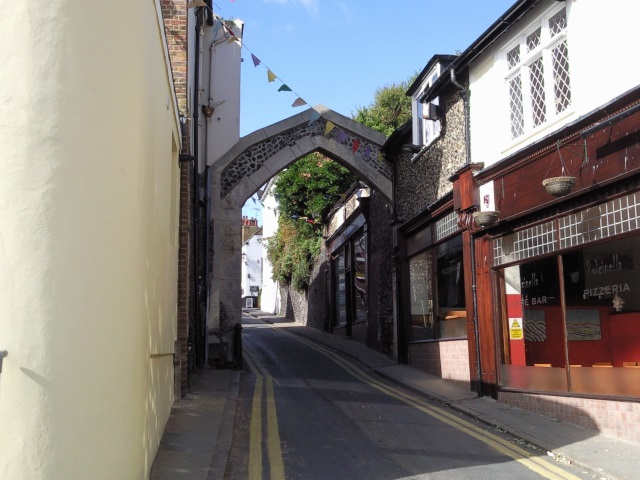 York Gate, leading up from Broadstairs harbour.