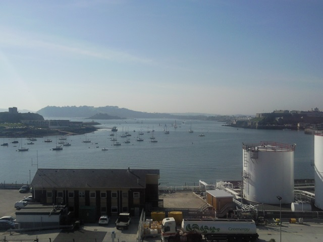 View across Plymouth Sound from Cattedown Road.