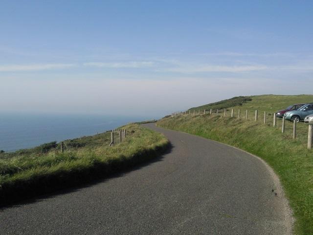 coast road along Whitsand Bay, Cornwall