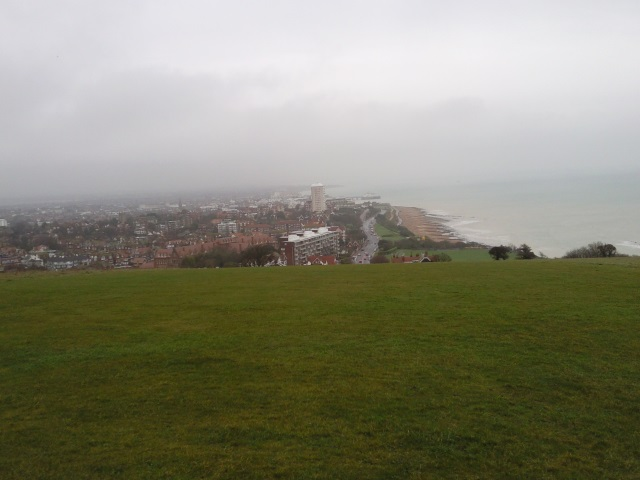 Eastbourne as seen from a nearby hill top