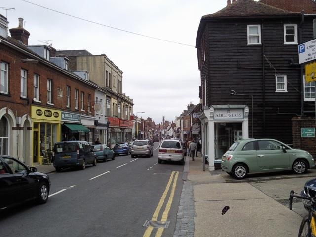 A street in Faversham.