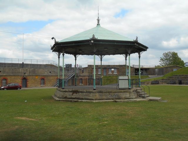 A bandstand in the courtyard of the old fort