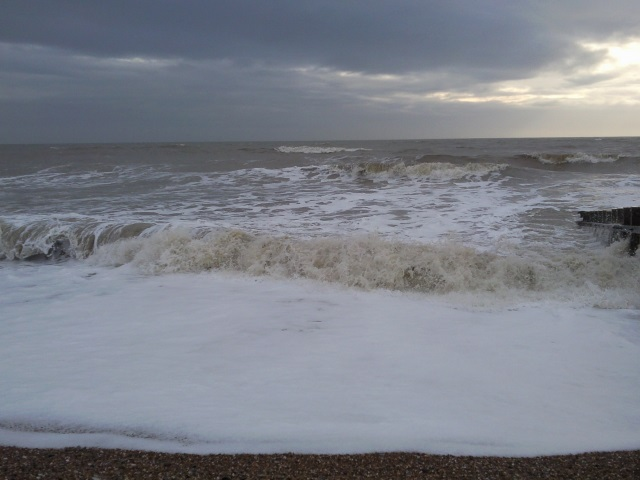 A frothy sea