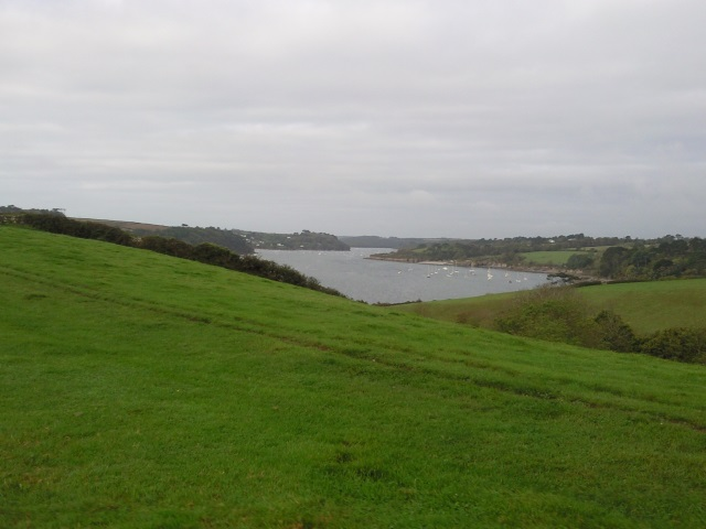 Helford River seen from a distance