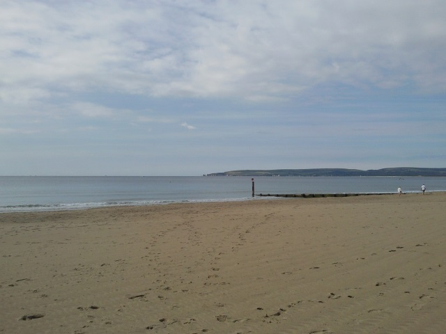 The Isle of Purbeck as seen from Branksome Chine
