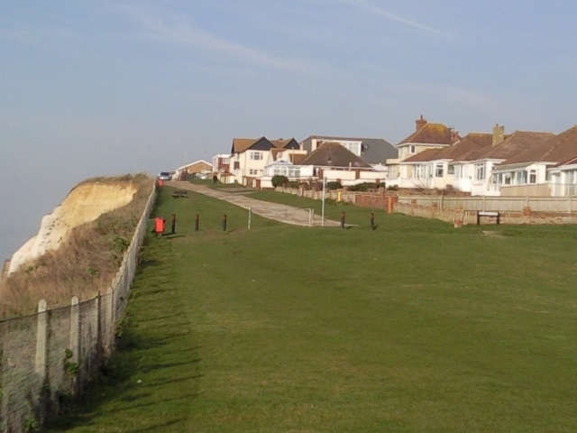 Peacehaven cliff top footpath