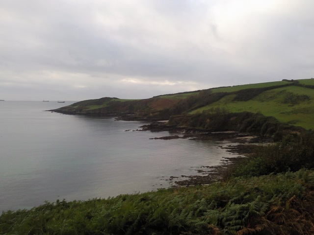 Rosemullion Head, as seen from somewhere just before Maenporth