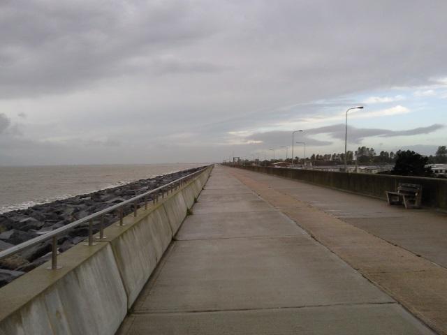 Promenade atop a sea wall