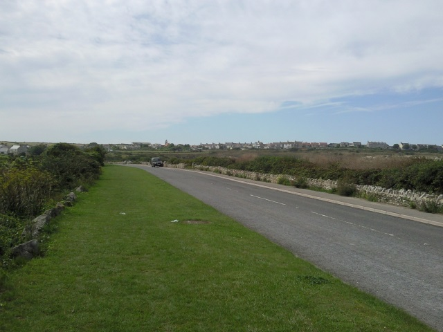 A quiet road leading to Portland Bill