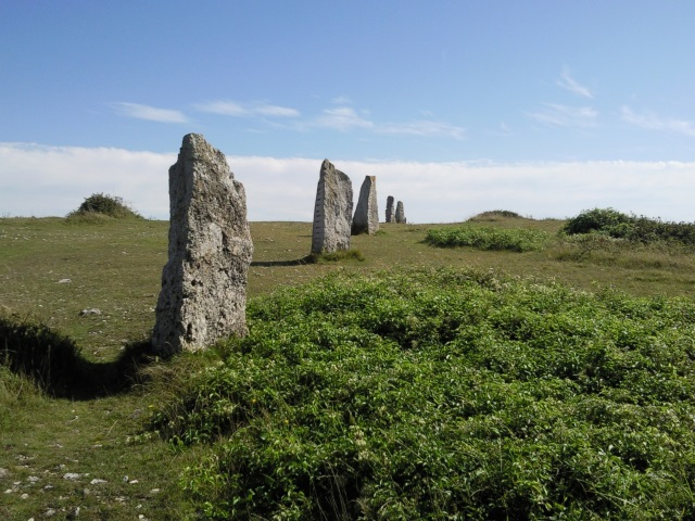 A row of upright stones
