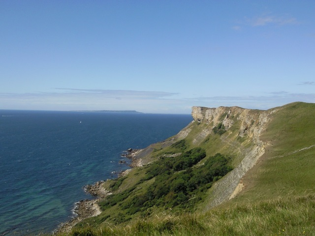 View from Tyneham Cap with the Isle of Portland on the horizon