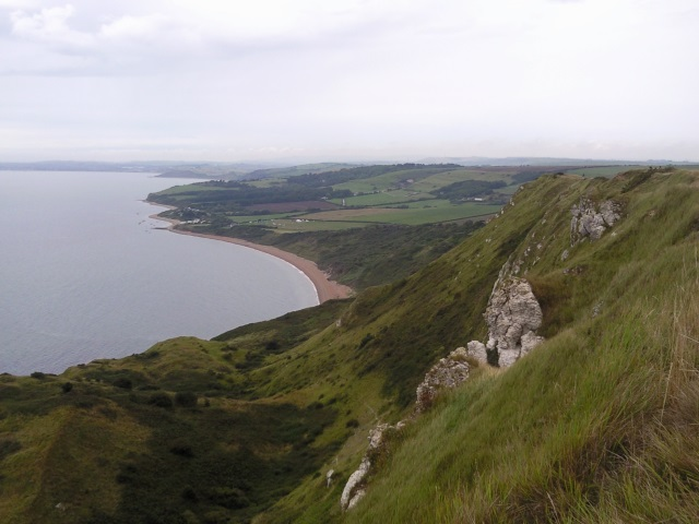 Weymouth Bay seen from Burning Cliff
