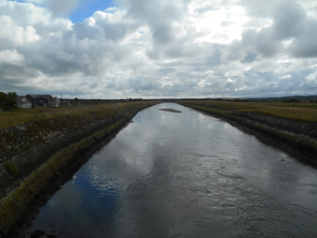 Afon Cefni, looking upstream from Malltraeth Cob