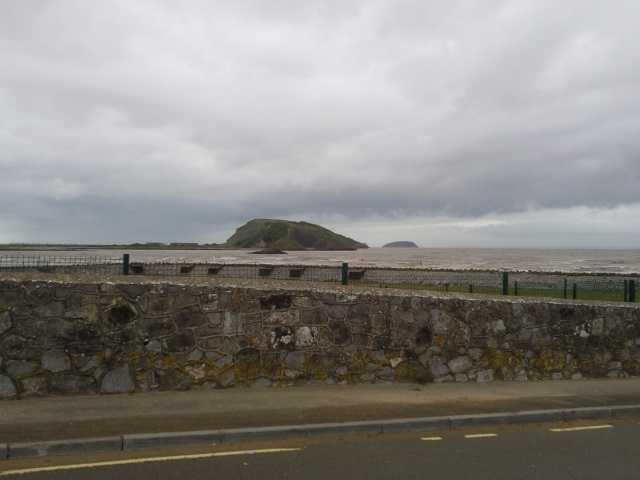 Brean Down, as seen from Uphill Beach