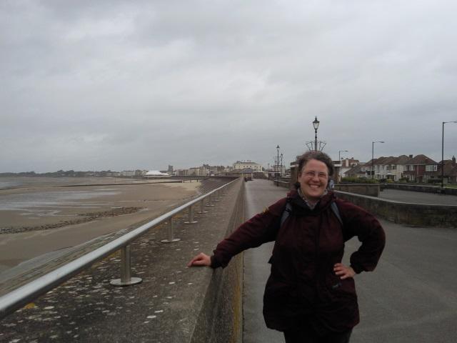 Alice at the seafront, Burnham-on-Sea
