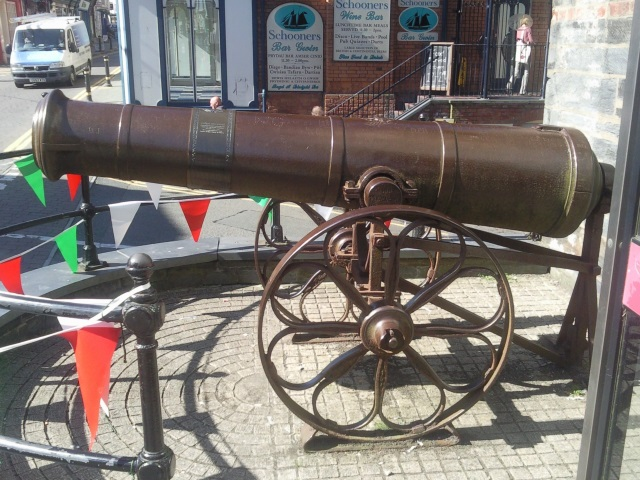 Russian cannon in Cardigan