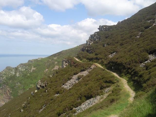 Path in steep coastal slope