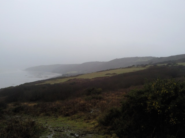 A misty view of the coast ahead