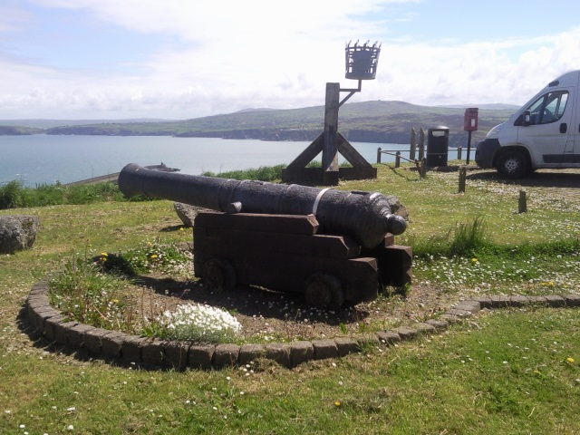 Cannon in Goodwick Harbour Village