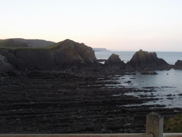 Rocks on the beach at Hartland Quay